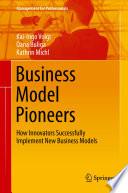 Business Model Pioneers Book