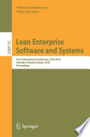 Lean Enterprise Software and Systems