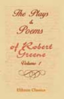The Plays   Poems of Robert Greene Book
