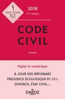 Code civil 2018, annoté