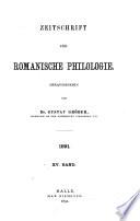 Zeitschrift für romanische Philologie Pdf/ePub eBook