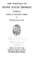 Journal: 1850-Sept. 15, 1851
