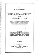 A Handbook of Petroleum  Asphalt and Natural Gas Book