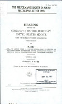 The Performance Rights In Sound Recordings Act of 1995
