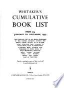 Whitaker's Cumulative Book List