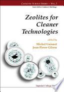Zeolites for Cleaner Technologies