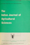 The Indian Journal of Agricultural Sciences Pdf/ePub eBook