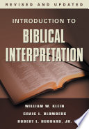 Introduction to Biblical Interpretation