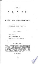 The Plays of William Shakspeare