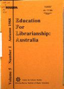 Education for Librarianship  Australia Book
