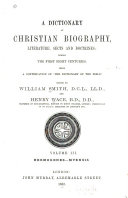 A Dictionary of Christian Biography  Literature  Sects and Doctrines  Hermogenes Myensis