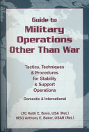 Guide to Military Operations Other Than War