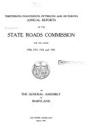 Annual Reports of the State Roads Commission for the Years