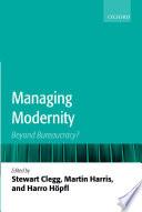 Managing Modernity