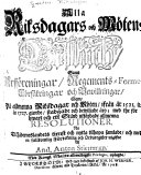 Alla Riksdagars och mötens beslůth samt arfföreningar, regements-former, försäkringar och bewillningar: ...