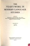 The Year's Work in Modern Language Studies