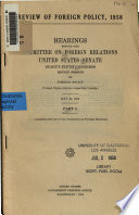 United States policies respecting Canada  May 16  1958  p  635 727