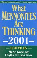 What Mennonites Are Thinking 2001
