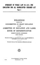 Oversight of Public Law 94 142  the Education for all handicapped children act