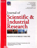 Journal of Scientific and Industrial Research Book