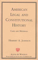 American Legal and Constitutional History