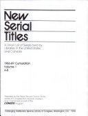 New Serial Titles ebook