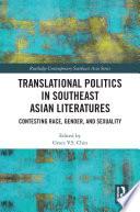 Translational Politics in Southeast Asian Literatures