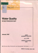 Staff Report on Water Quality in San Francisco Bay Book