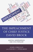 The Impeachment of Chief Justice David Brock [Pdf/ePub] eBook