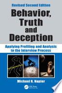 Behavior  Truth and Deception Book