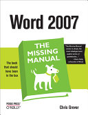 Word 2007: The Missing Manual Pdf/ePub eBook