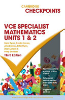 Cambridge Checkpoints VCE Specialist Maths Units 1 and 2