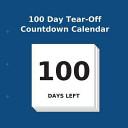 100 Day Tear Off Countdown Calendar