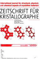 Zeitschrift F  r Kristallographie Book