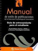 Manual de estilo de publicaciones de la American Psychological Association