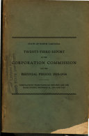 Report of the Corporation Commission for the Biennial Period