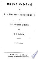 Erstes Lesebuch F R Die Vorbereitungssch Ler In Den Deutschen Schulen