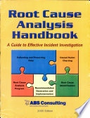 Root Cause Analysis Handbook Book PDF
