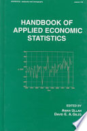 Handbook of Applied Economic Statistics Book