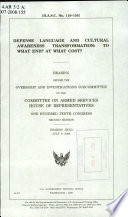 Defense Language and Cultural Awareness Transformation