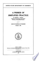 A Primer of Simplified Practice Book
