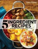 Taste of Home 5 Ingredient Cookbook 2E Pdf/ePub eBook