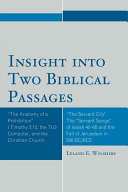 Insight Into Two Biblical Passages
