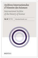 Archives Internationales d Histoire Des Sciences 67 2 179  2017
