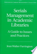 Serials Management in Academic Libraries