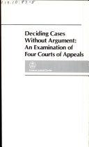 Deciding Cases Without Argument