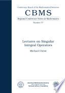 Lectures on Singular Integral Operators  , Edição 77