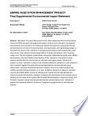 Plumas National Forest (N.F.), Empire Vegetation Management Project