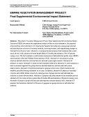 Plumas National Forest (N.F.), Empire Vegetation Management Project