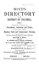 Boyd s Directory of the District of Columbia for     Book